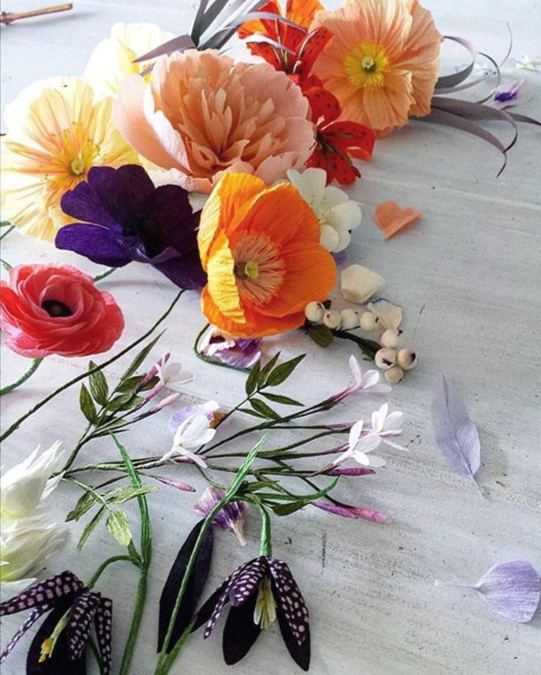 Paper flowers play images flower decoration ideas repost from jackievarriano of my paper flowers styled by the team cut paper paper flowers play mightylinksfo