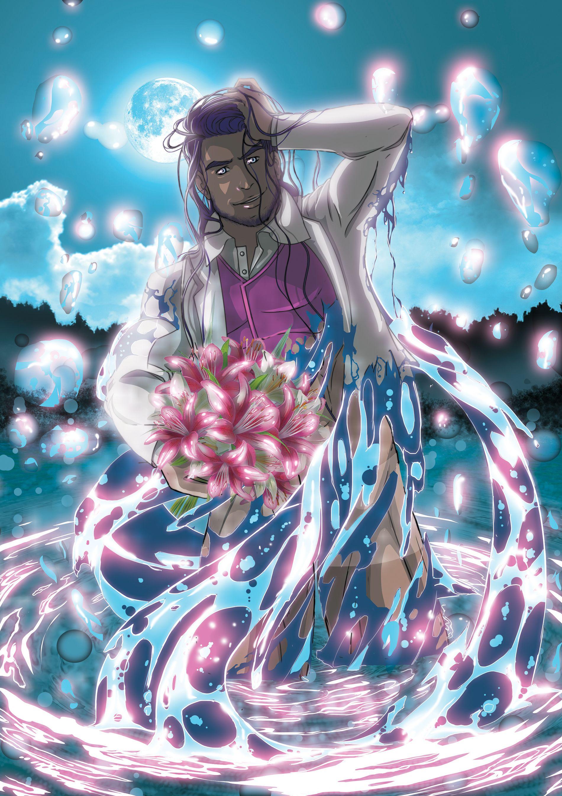 Boto cor de rosa Ilustração da lenda do folclore brasileiro, boto ...