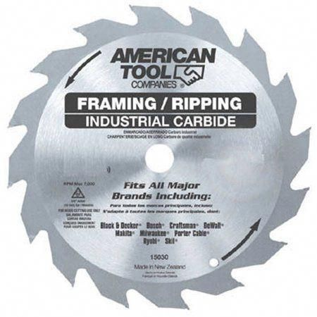 Irwin 15120 6-1/2 inch 24T Framing and Ripping Circular Saw Blade