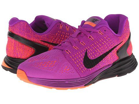 Nike Lunarglide 7 Vivid Purple Hyper Orange Pink Foil Black - Zappos ... db4cfad1984c