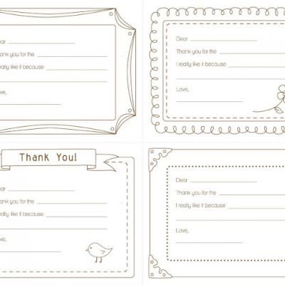 thank you note printables