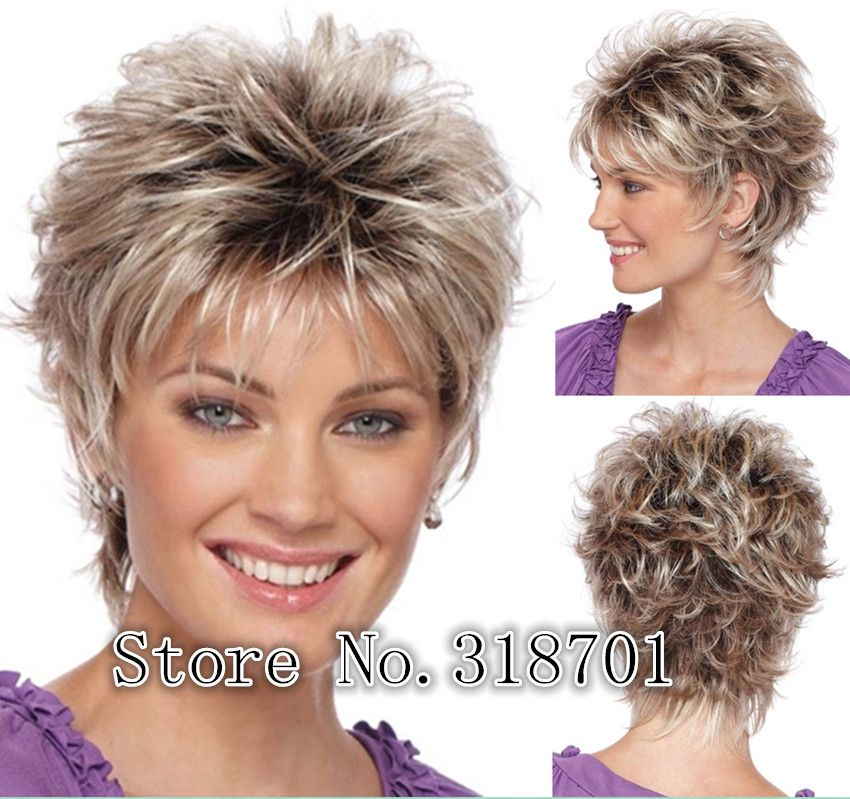 US $18.4  New Natural Blonde mix Short curly Women