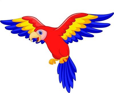 Cute Parrot Bird Cartoon Wall Decal Pixers We Live To Change Bird Cute Birds Parrot Bird