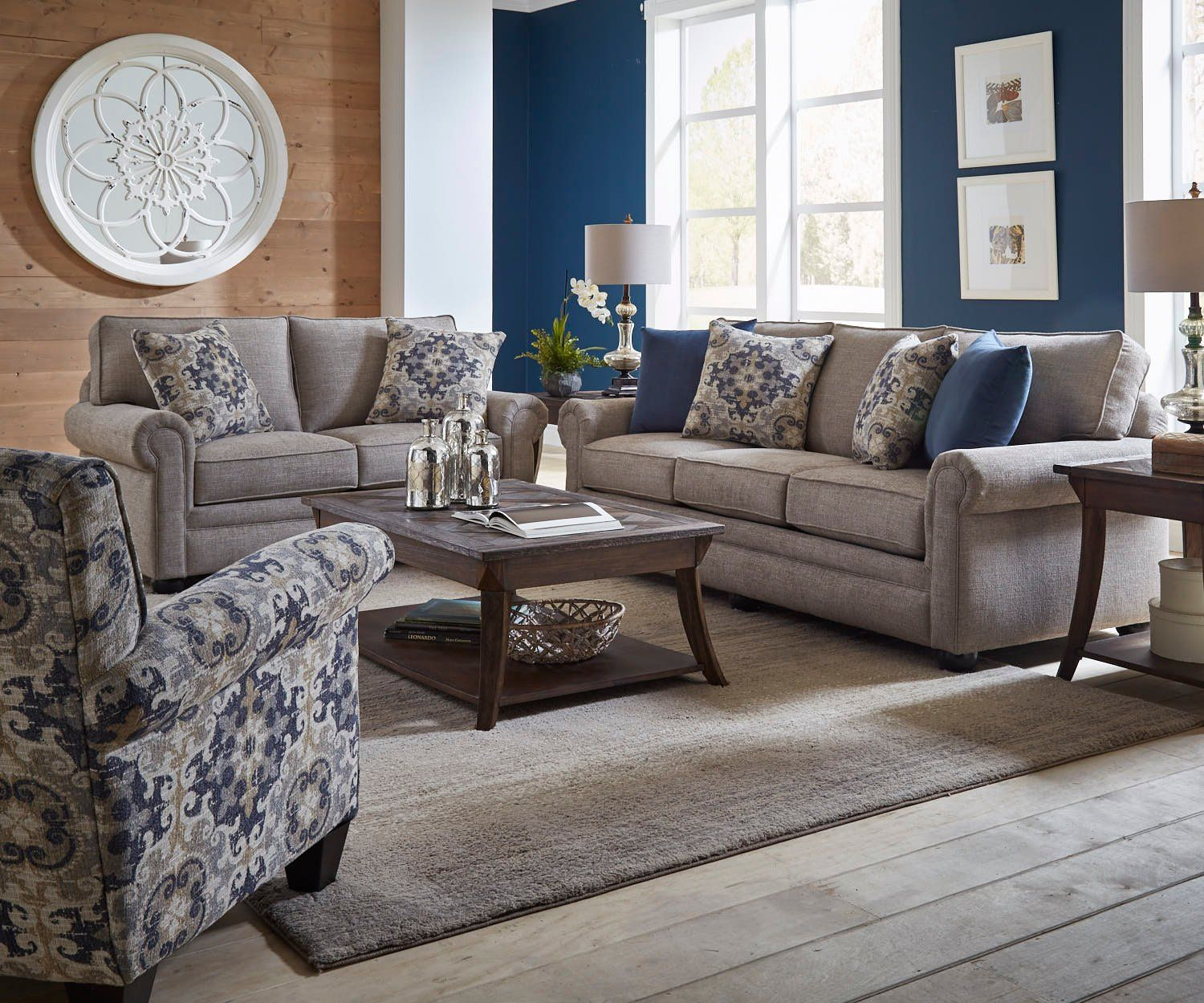 Best Casual Traditional Taupe Sofa Bed 2 Piece Living Room Set 640 x 480
