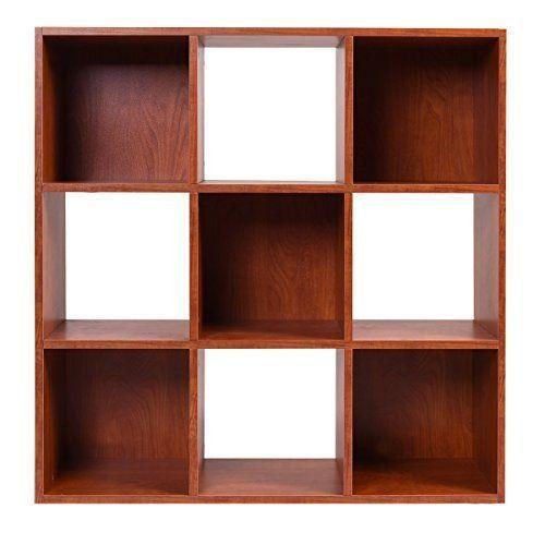 Bookcase Brown 9 Cube Organizer Storage Shelf  Home Office Furniture