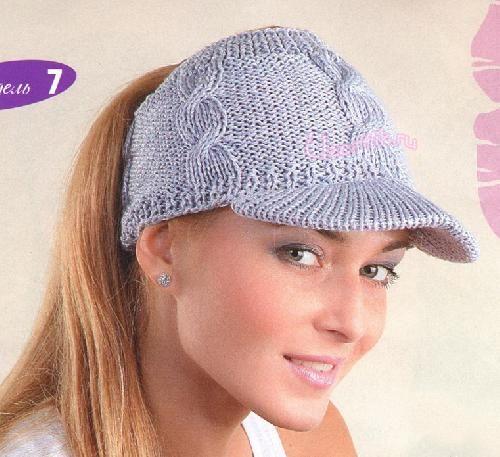 вязаная кепка спицами вязание спицы вязание вязание крючком и шляпа