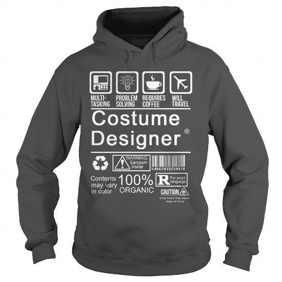 COSTUME DESIGNER CERTIFIED JOB TITLE T Shirts, Hoodies. Get it now ==► https://www.sunfrog.com/LifeStyle/COSTUME-DESIGNER--CERTIFIED-JOB-TITLE-Charcoal-Hoodie.html?57074 $36.99
