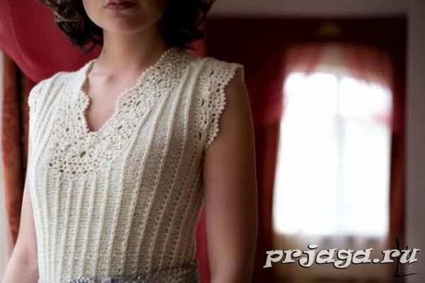 Vestido de crochê e tricô 7 / Платье крючком и спицами 7 / Dress crochet and knitting 7