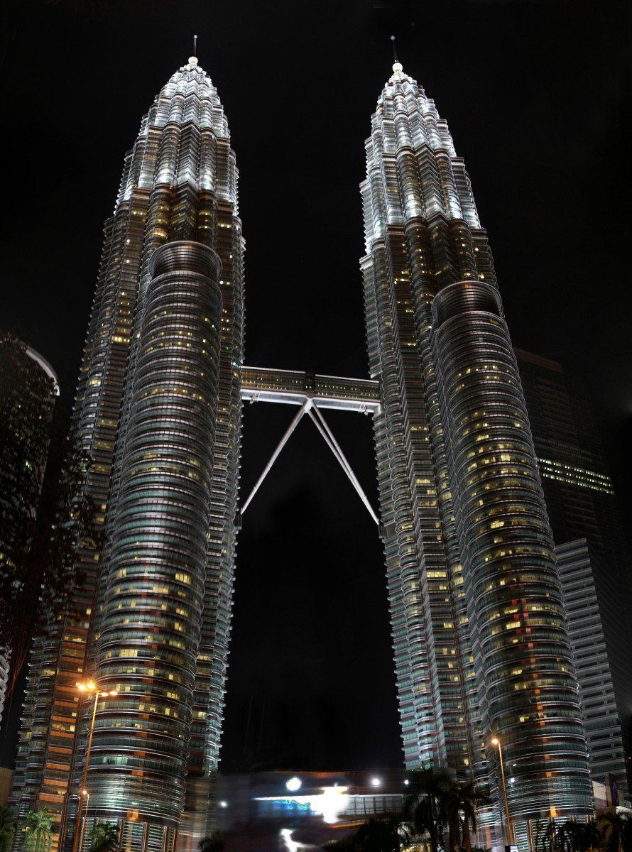Kuala Lumpur's main attraction is Petronas Twin Towers - really impressive at close view in the evening lights.