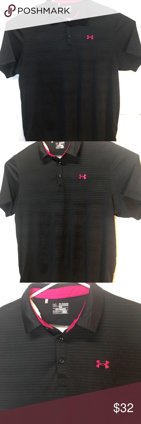 32b2ad14 Under Armour Golf Shirts Pink | Kuenzi Turf & Nursery