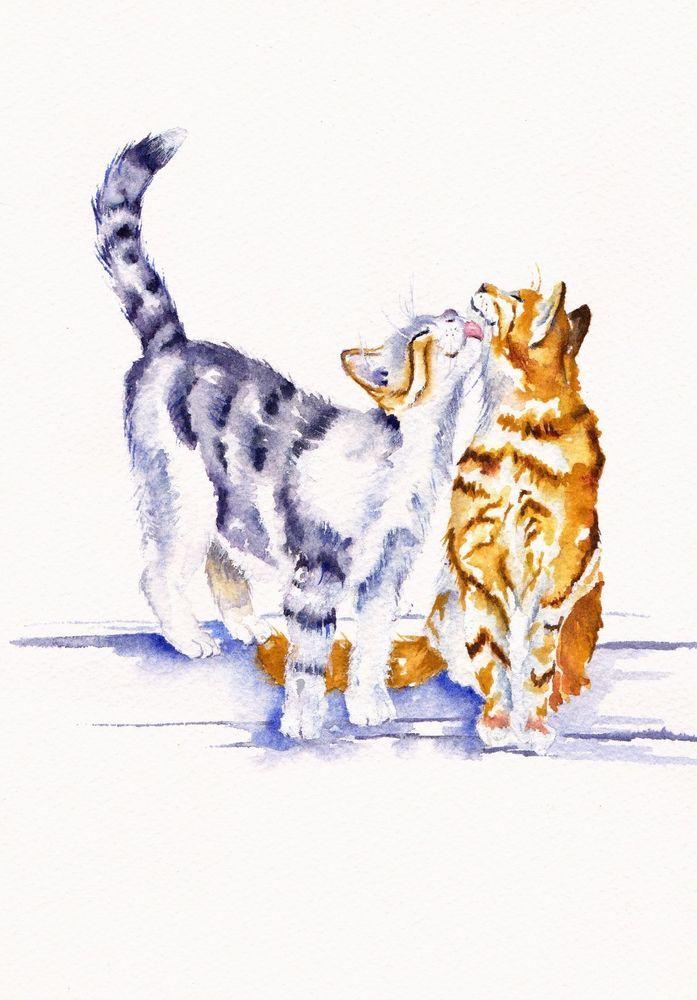 Pin de Enjil Harrah en Feline | Pinterest | Ilustraciones de gato ...