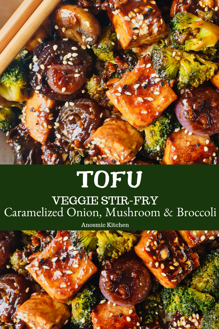 Veggie Tofu Stir-fry Recipe by My Anosmic Kitchen #stirfrysauce