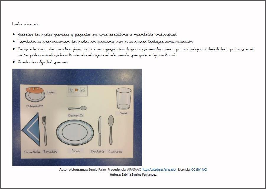 MATERIALES - Plantilla - Mantel individual para poner la mesa ...