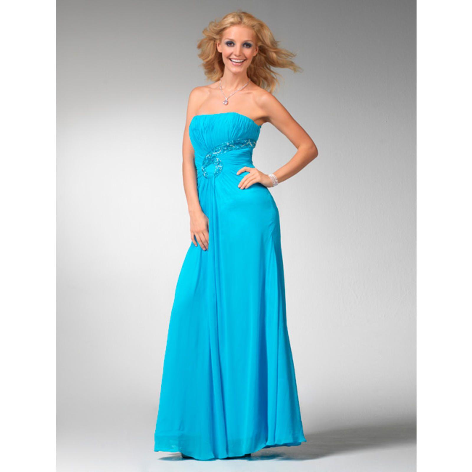 Clarisse Clarisse Strapless Chiffon Prom Dress 1533 - Aqua blue ...