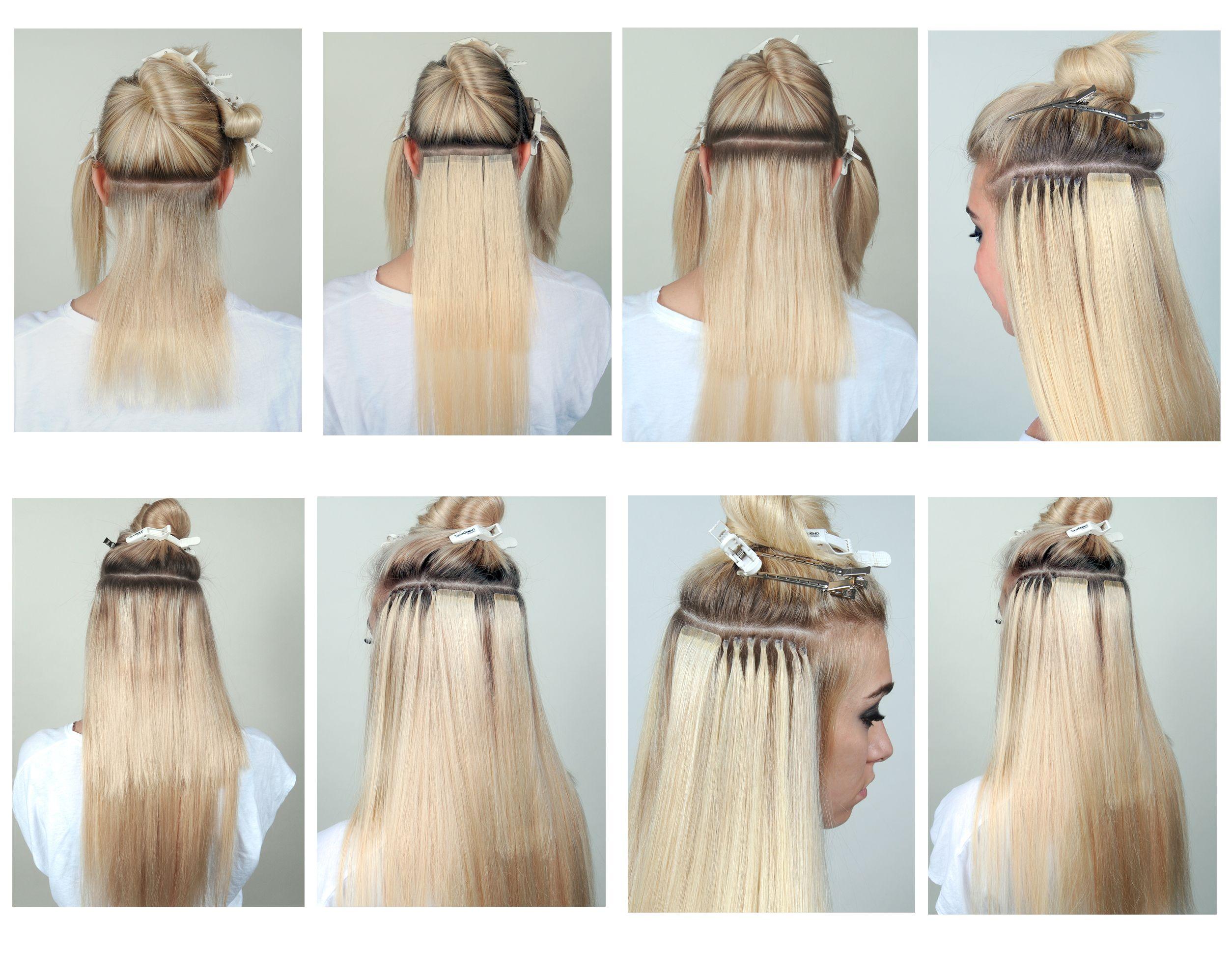 наращивание волос пошагово фото красных сеттеров