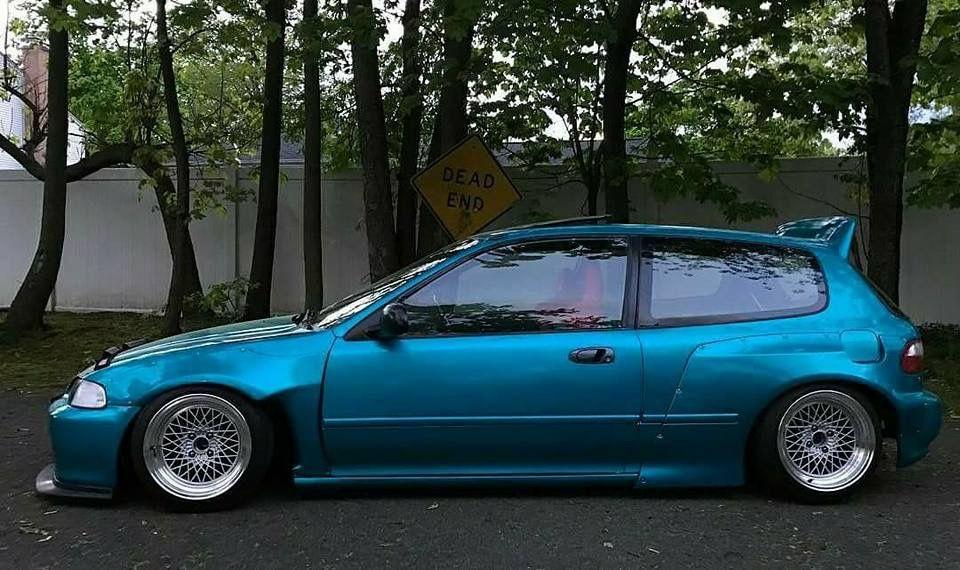Honda #Civic_Eg6 #Modified #WideBody #Slammed #Stance | Civic ...