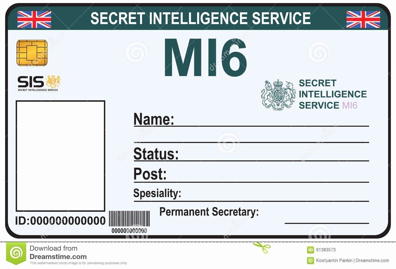 Free Child Id Card Template Beautiful Identite Un Agent