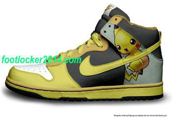 watch 8834b b6dd3 Nike High Dunk Pikachu Pokemon Mens Casual Shoes