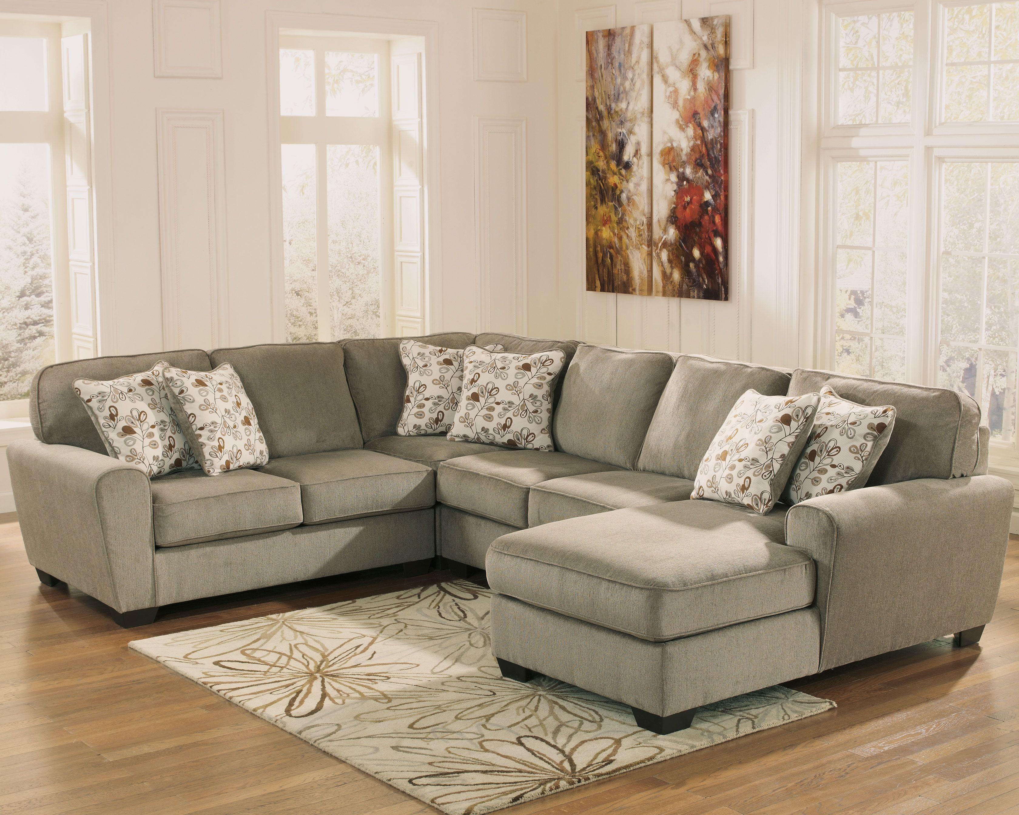 Patola Park 4 Piece Loveseat Sectional Patina Living Room