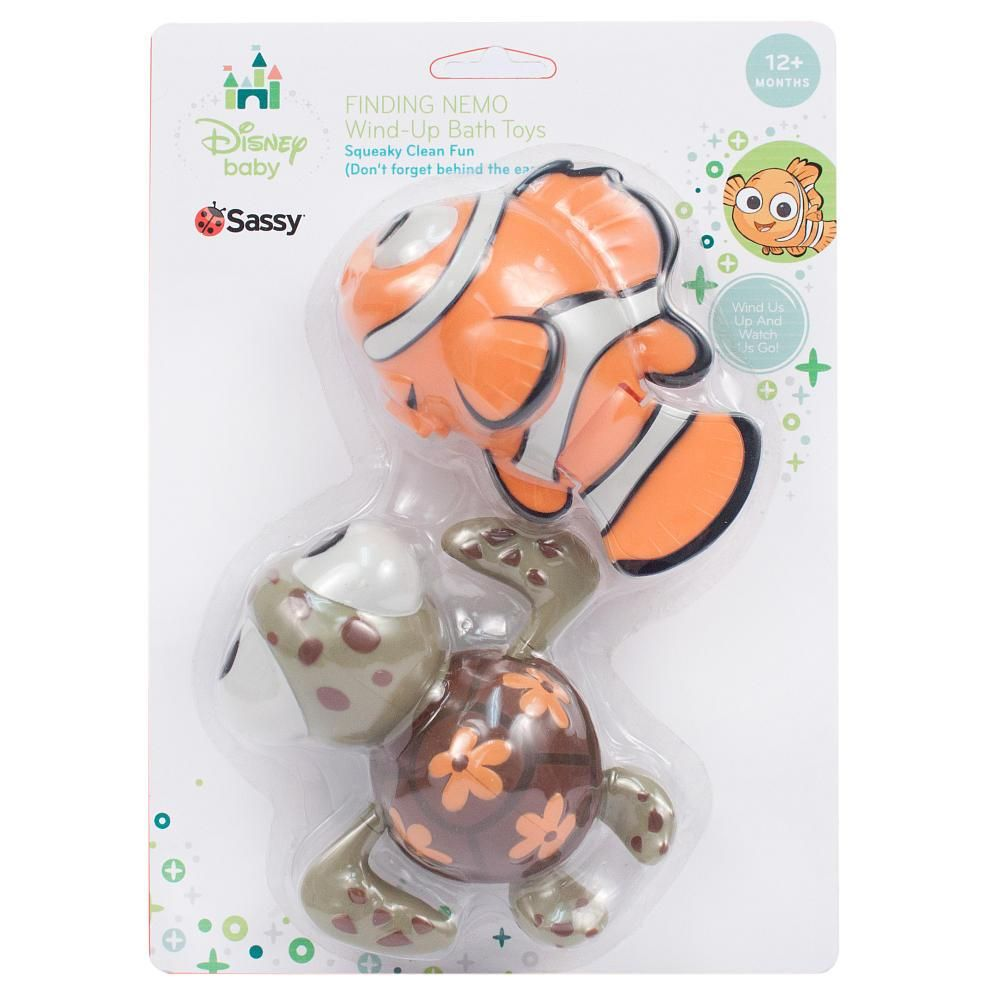 This Disney Baby Finding Nemo Wind Up Bath Toy Provides