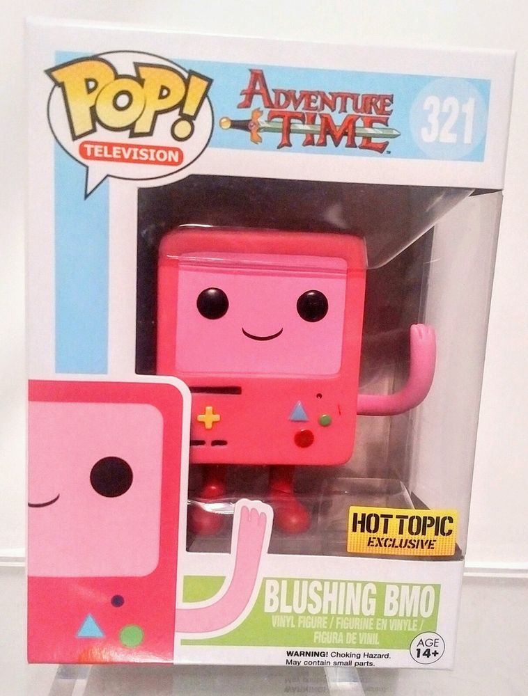 New Funko Adventure Time Blushing Bmo Pop Vinyl Figure Pink Hot Topic Exclusive Vinyl Figures Pop Vinyl Figures Pop Vinyl
