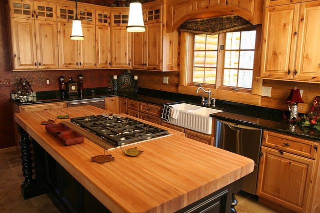 Superieur Log Home Kitchen Designs | Log Cabin Kitchen By Golden Eagle Log Homes