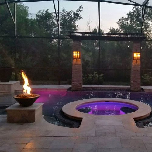 Customer Copper Fire Bowl Custom Pools Fire Features Fire Bowls
