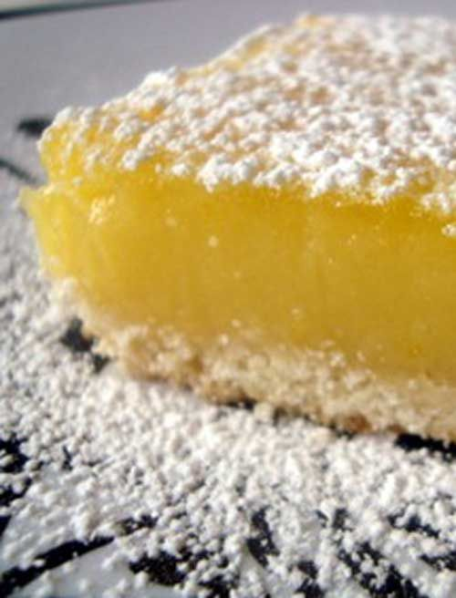 Recipe for The BEST Freaking Lemon Bars on Earth