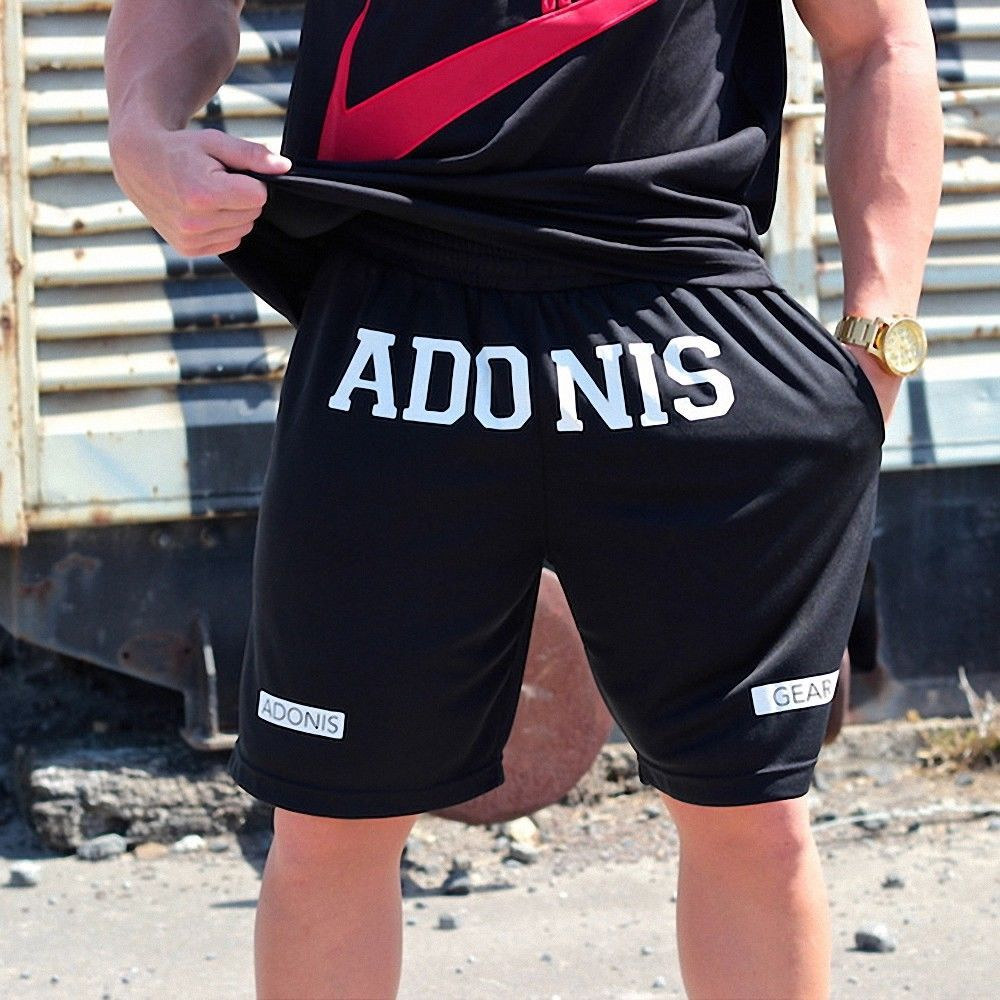 MENS ADONIS.GEAR- HAMMA TRAINING RUNNING SHORTS GYM WHITE BODYBUILDING