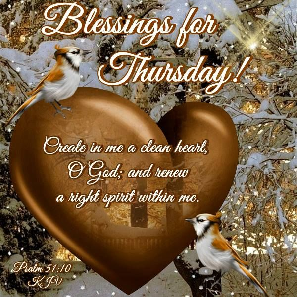 Good Morning, Happy Thursday. I pray that you have a safe