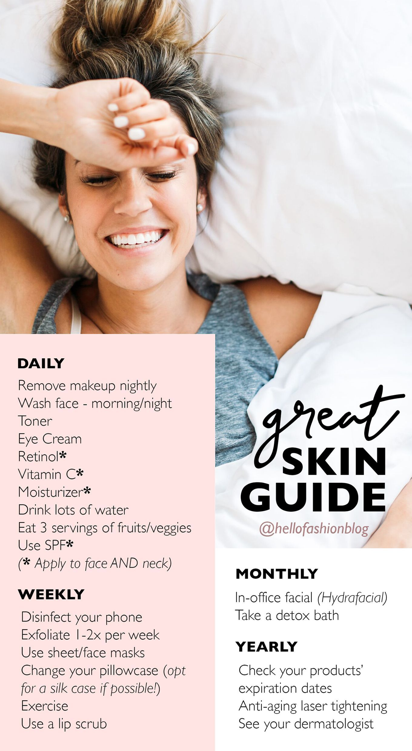 The Guide to Great Skin  Natural skin care, Healthy skin, Natural
