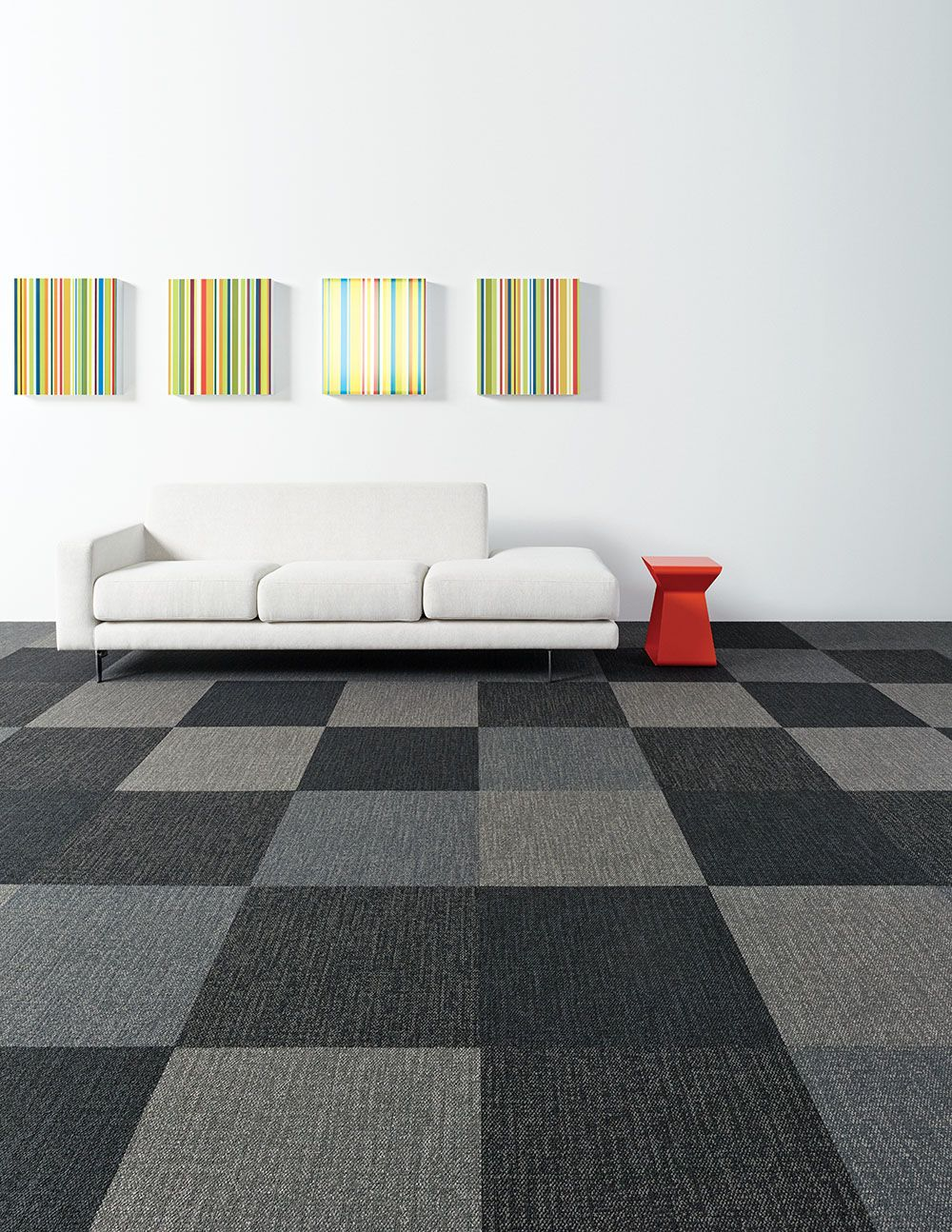 Color Frame Carpet Tile Simple And Tailored Near Solid Pattern Consisting Of Random Linear Lines 23 91 Cm Size Available In 36 Colours