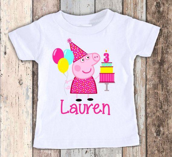 Peppa Pig 2 Custom Designed Birthday T Shirt Tshirt By Faboodles