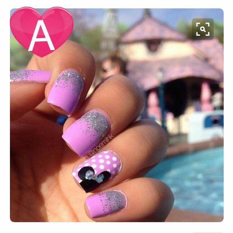 Minnie in pink | Nail art | Pinterest | Disney nails and Makeup