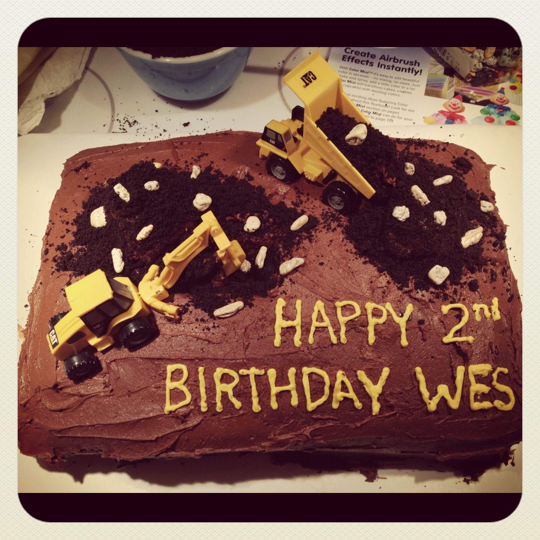 Construction Party Cakes | Wesu0027s 2nd Birthday Construction Digger Cake | Party  Ideas