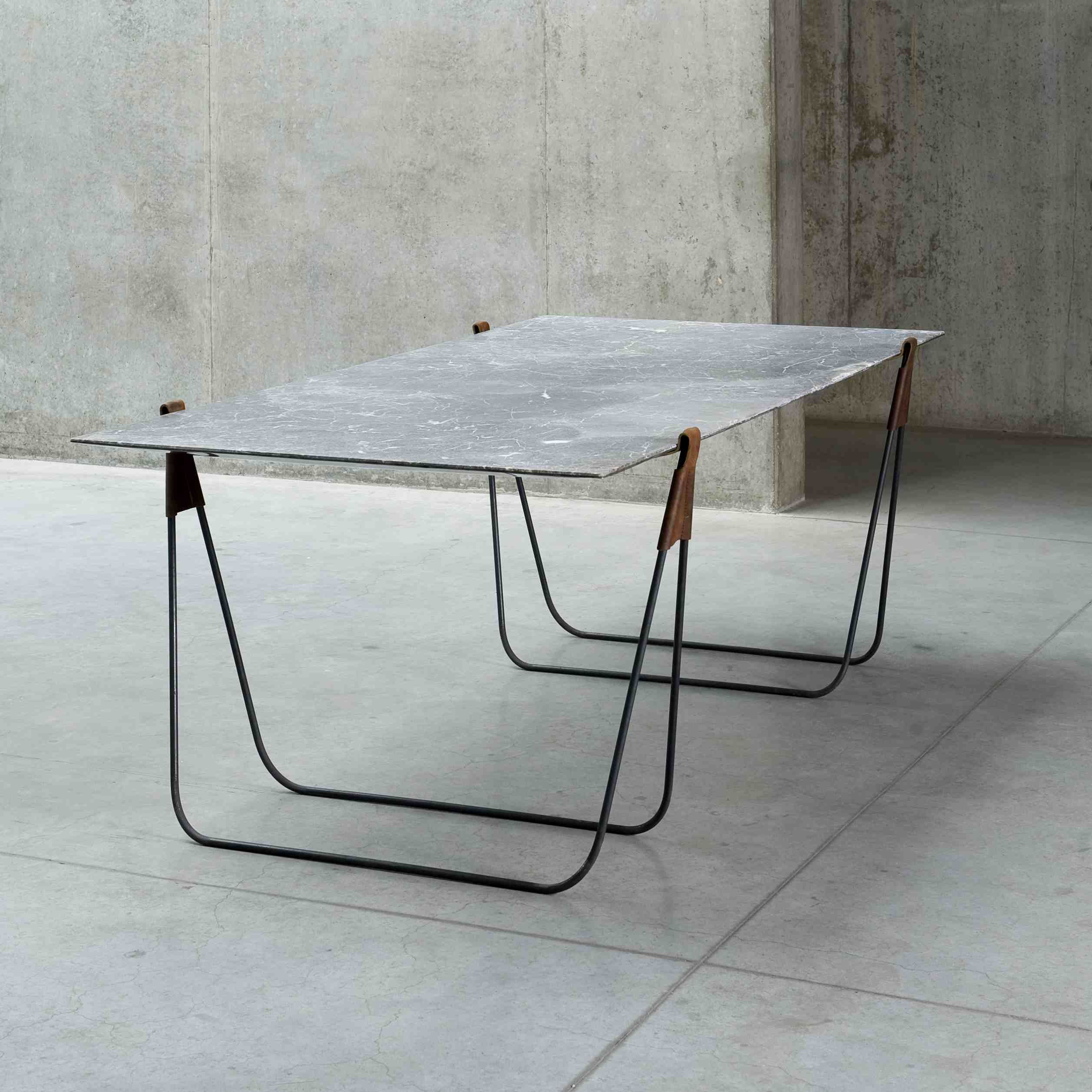 Marble Table Standing Mirror By Ben Storms 2013 Photo Isabel Rottiers Marble Table Trestle Table Furniture Dining Table