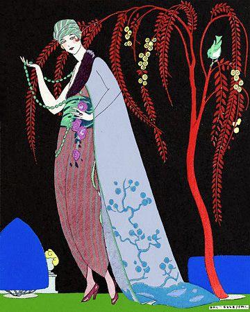 Istar Sahar  oriental Style dress by Molyneux Couture  1919 http://www.vintagevenus.com.au/products/vintage_poster_print-g409