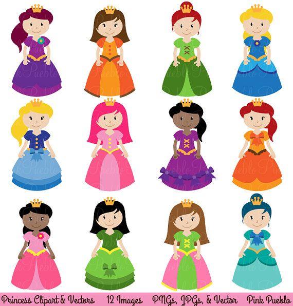 princess clipart clip art fairytale clip art clipart vectors rh pinterest nz clip art princess tiara clipart princesse