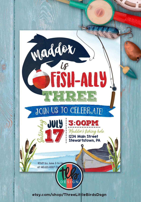 Fishing Theme Birthday Invitation For Any Age Boy Fishing Etsy Fishing Theme Birthday Fishing Birthday Party Fishing Birthday