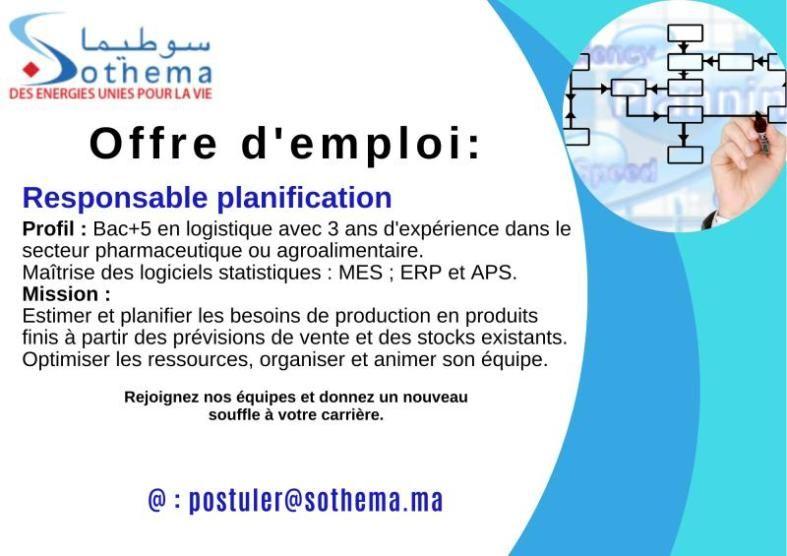 Sothema Recrute Responsable Planification Et Juriste Contrats Veille Juridique Modele De Contrat Gestion Des Ressources Humaines