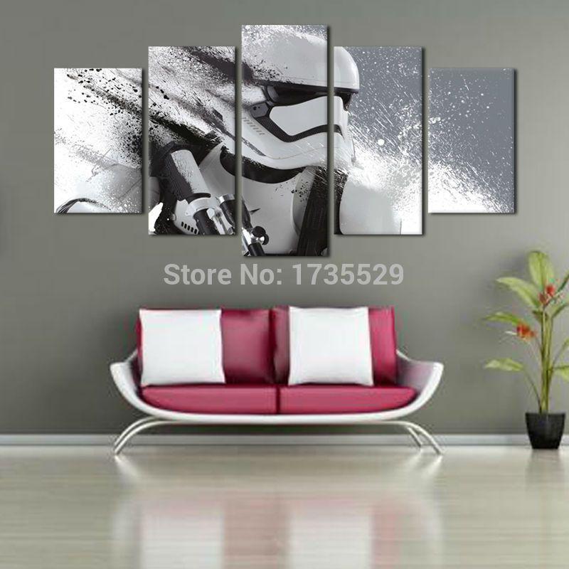 pas cher 2016 new imprim star wars film 5 pe a peinture. Black Bedroom Furniture Sets. Home Design Ideas