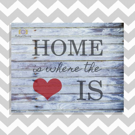 Rustic Country Home Decor  Home Is Where The Heart Is Sign  Rustic Printable Wall Art  Rustic Wall Decoration  INSTANT DOWNLOAD