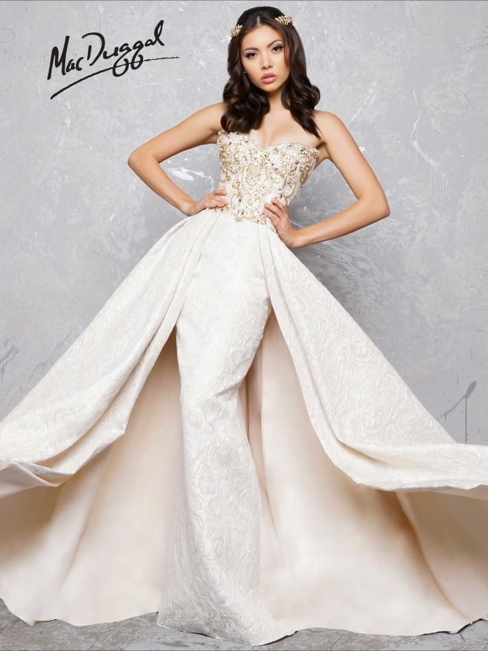 01712ceb80c Light Gold Gown with Overskirt