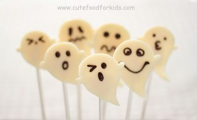 Cute Food For Kids?: Chocolate and Marshmallow Ghosts
