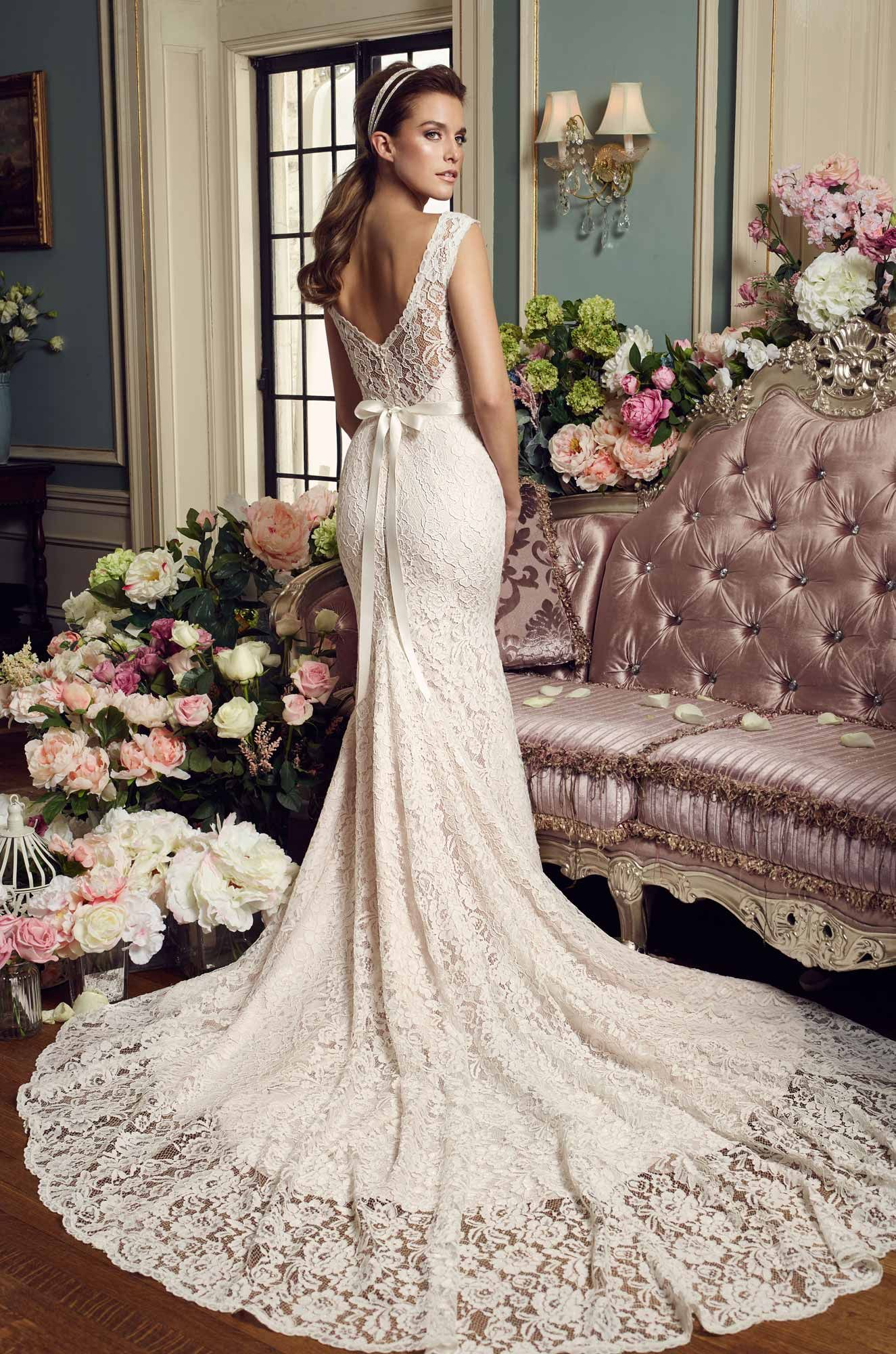 Floral Accent Wedding Dress Style 2157 Wedding Dresses