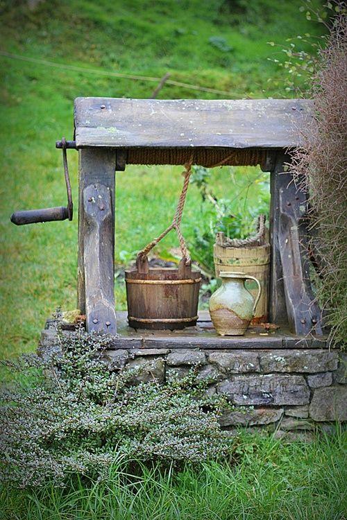 Um poço de água pura no quintal...