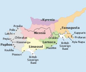 Cyprus Map Vacations in Cyprus Pinterest Cyprus Vacation and