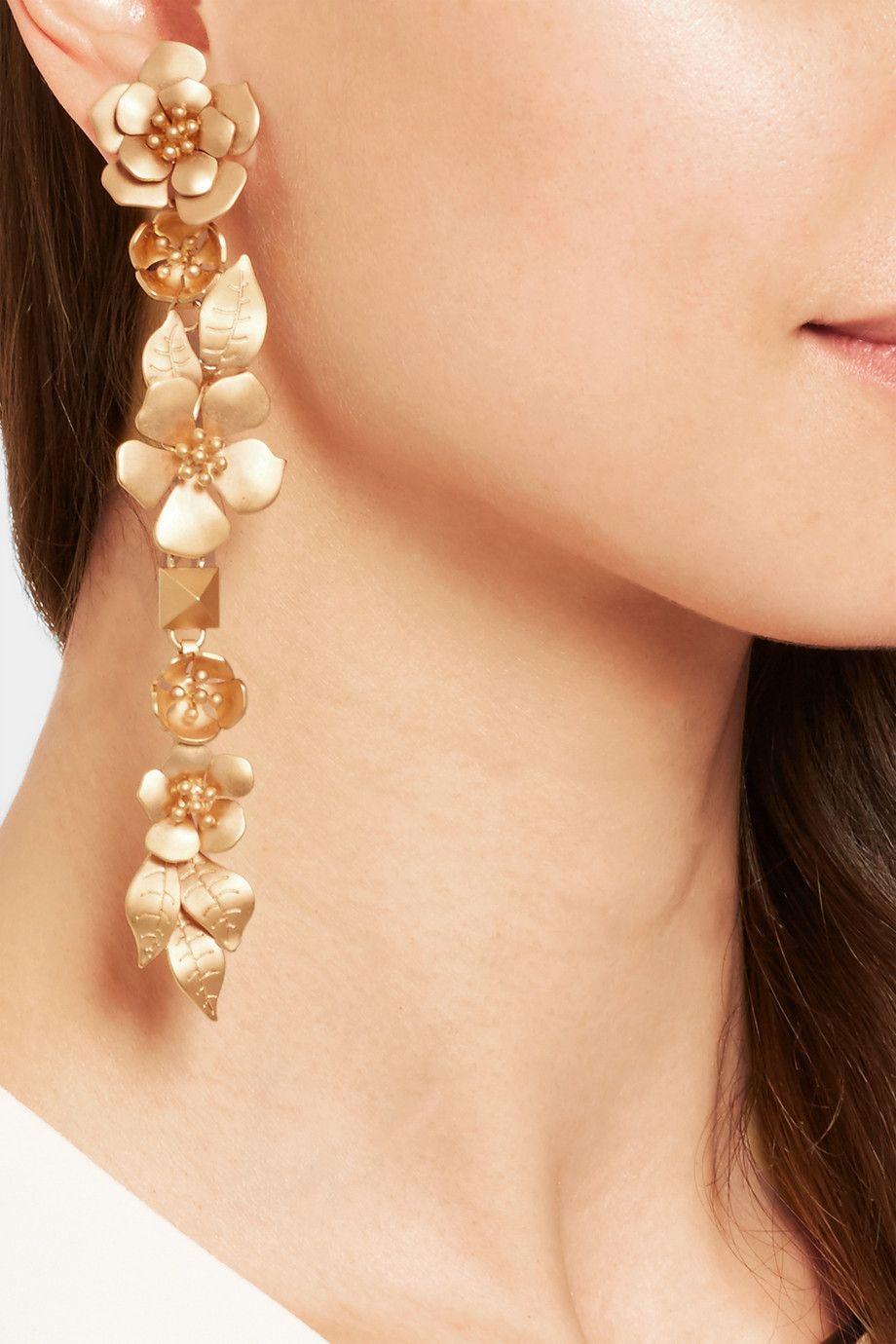 Flower Earrings Valentino zsRM8oCt6