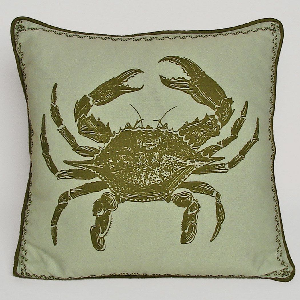Nauticals Crab Throw Pillow | Products | Pinterest | Throw pillows ...