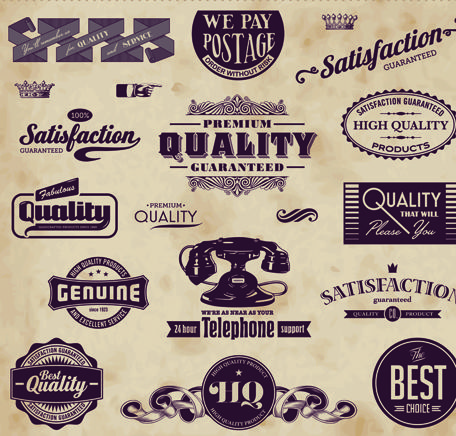 retro labels | Retro of Creative labels design vector set - Vector ...